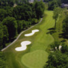 Aerial view of the 1st green at Whispering Woods Golf Course