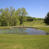 A view over a pond at Champion Lakes Golf Course